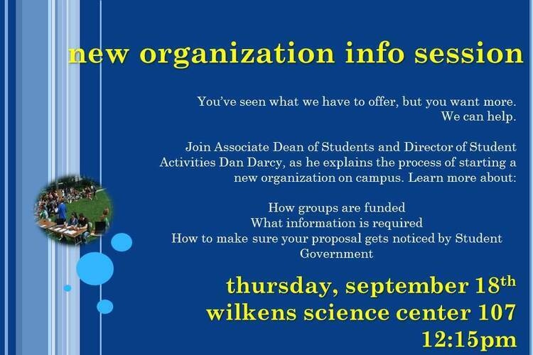 New Organization Information Session