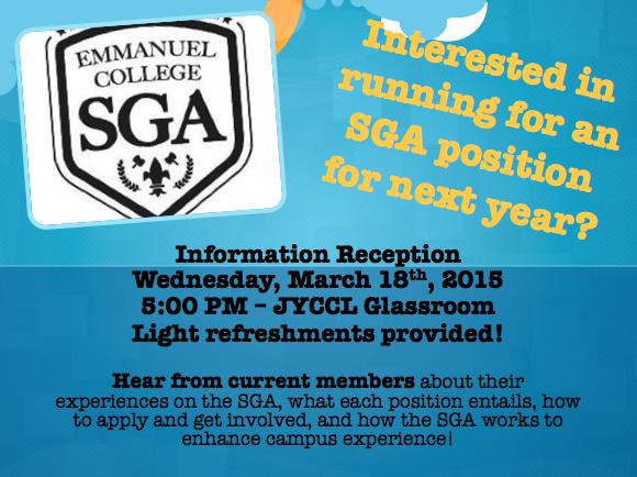 SGA Information Reception