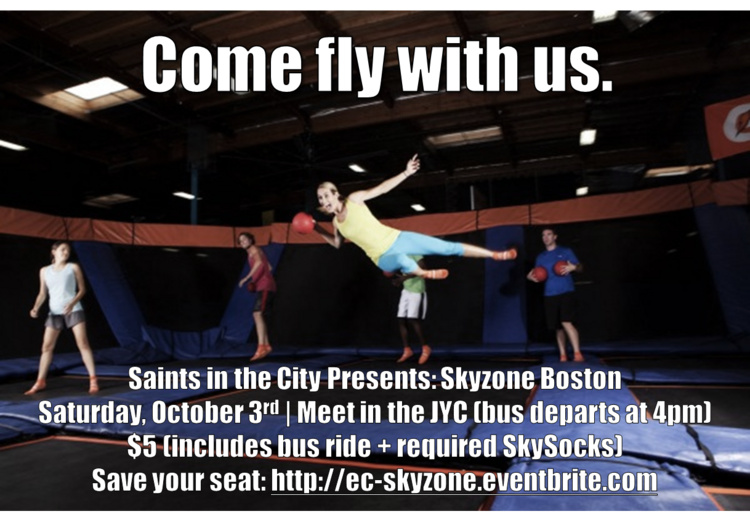 Saints in the City Presents: Skyzone Boston