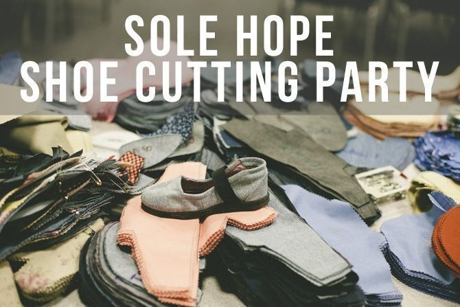 Sole Hope Shoe Cutting Party